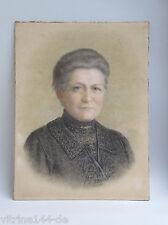 Biedermeier Portrait Handzeichnung in Pastellkreide Signatur: Klein, 44 x 58 cm