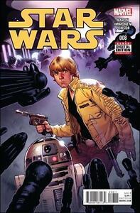 STAR WARS #8 1st print MARVEL COMIC STUART IMMONEN LUKE SKYWALKER cover art NM