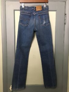 34550b0c09d Vtg 70s 80s Levis 517 Denim Blue Jeans Mens 31-34 Straight Leg USA ...