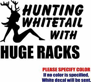 "Vinyl Decal Sticker - Hunting Whitetail Car Truck Bumper Window Laptop Fun 7"""