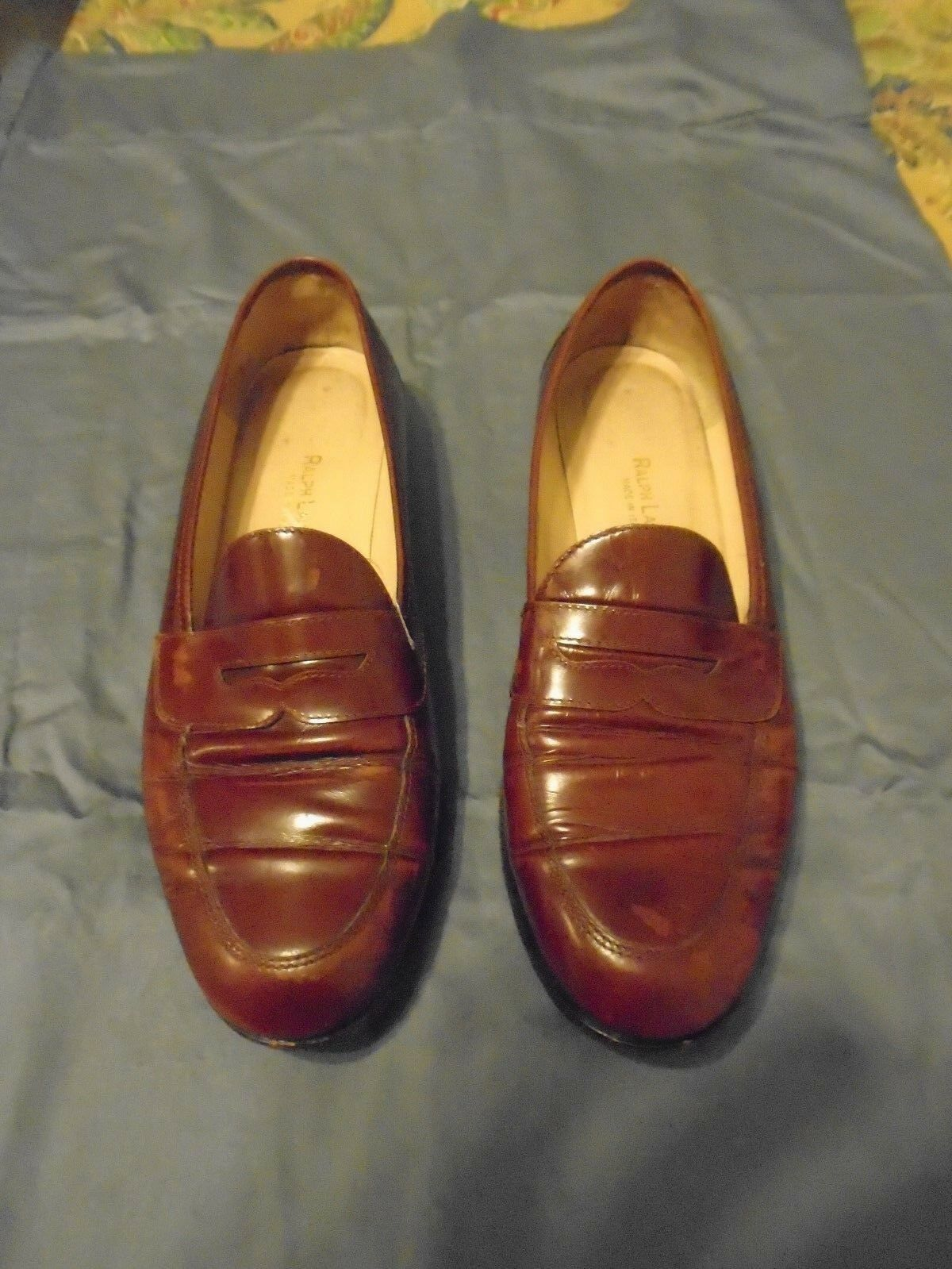 RALPH LAUREN Mens Brown Penny Loafers shoes.  Leather 8.5B.
