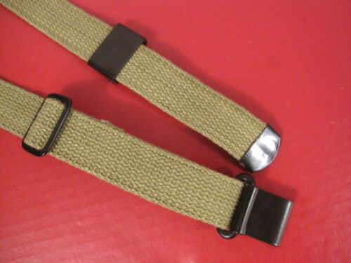 WWII US GI M1 Garand Canvas Rilfe Sling w//Flat Buckle OD Color Dated 1943  Repro