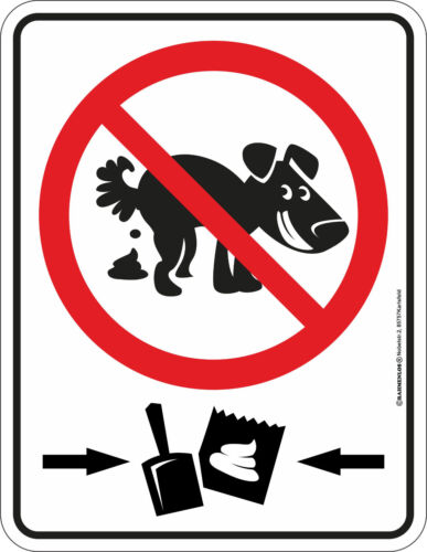 Blechschild Schild Nicht Kacken Schaufel Kotbeutel Hund