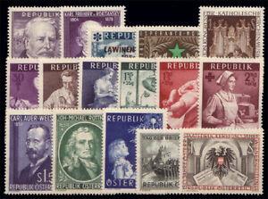 Osterreich-Jahrgang-1954-komplett-1A-Qualitaet-Katalogwert-175