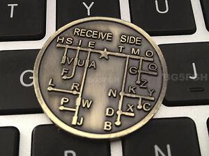 Morse Code Chart | Cw Morse Code Decoder Chart Medal Coin Morse Commemorative Coin Gift