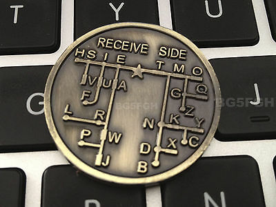 CW Morse Code Decoder Chart Medal Coin Morse Commemorative Coin Gift Prize