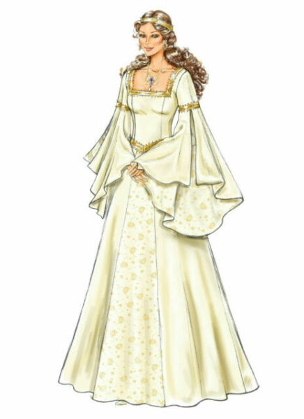 Butterick Sewing Pattern Dress Costume Medieval Princess Thrones 4571 6-12 14-20