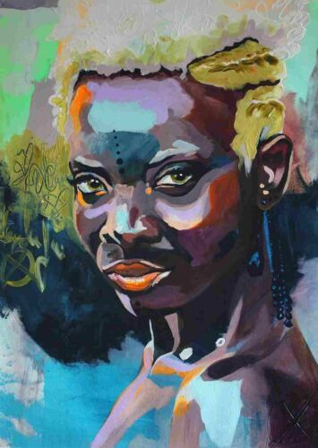 Wall Art DIY Number Painting African Women Abstract Living Room Home Decoration