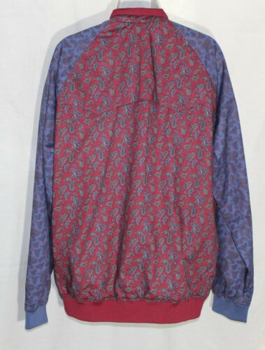 Zipper Ben Rosso Paisley Extra Blu Womens Large Sherman Xl Front Nwt Jacket cApSqRAB8r