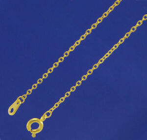 A-pack-of-10-x-18-034-Gold-Plated-Very-Fine-Trace-chains-1-5mm-wide-W2049g