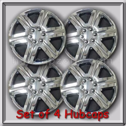 """4 18/"""" Chrome Aftermarket Hubcaps Great For Snow Tires Chrome Wheel Covers"""