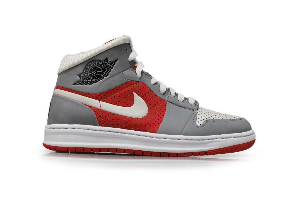 Mens Nike Air Jordan Alpha 1 ID  - 407034-993 - Red Grey White - No lid Trainers