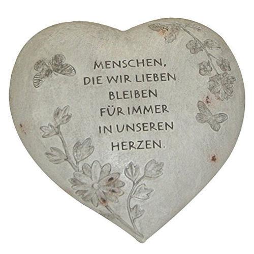 Herz mit Inschrift ca.15,5 x 9 x 16,5 cm