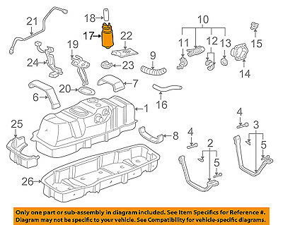TOYOTA OEM FACTORY FUEL SYSTEM PLATE 1997-2001 CAMRY