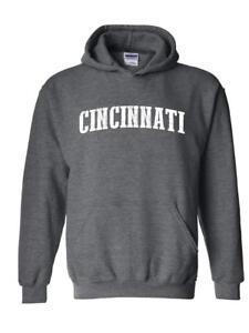 Ohio OH Cincinnati Map Bearcats Buckeyes Home of Ohio State University Full-Zip Men/'s Hoodie