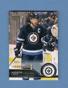 2014-15-Upper-Deck-Exclusives-Parallel-443-Jets-Andrew-Ladd-100