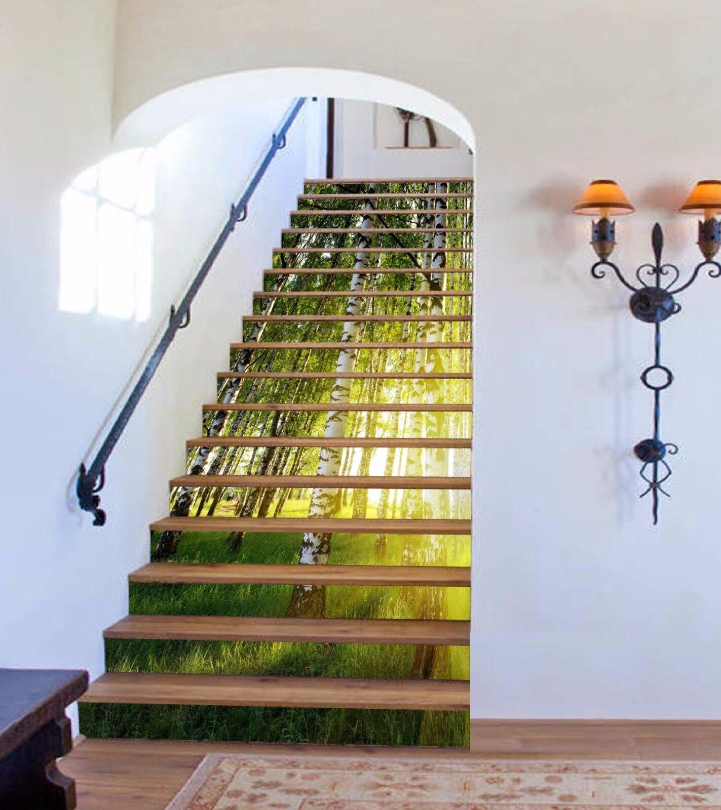 3D Sun Tree  558 Stair Risers Decoration Photo Mural Vinyl Decal Wallpaper AU