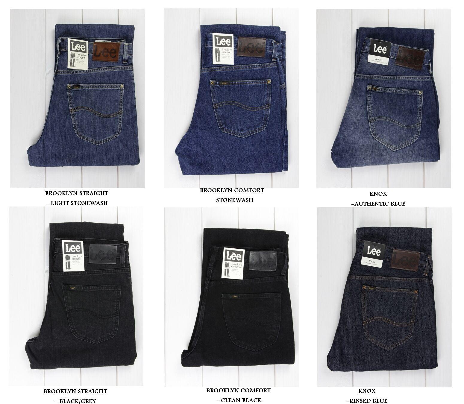 NUOVO Lee Brooklyn DRITTO & COMFORT black   JEANS blue L30 L32 L34