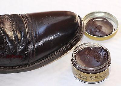 3 X 50ml Marrón Oscuro Grison De Luxe Crema de Zapatos-Esmalte de cuero Jacarandá