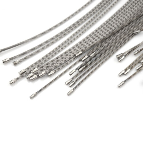 10PCS Hiking Tool Wire Keychain Cable Key Ring Stainless Steel 10//15//20cm BLIS