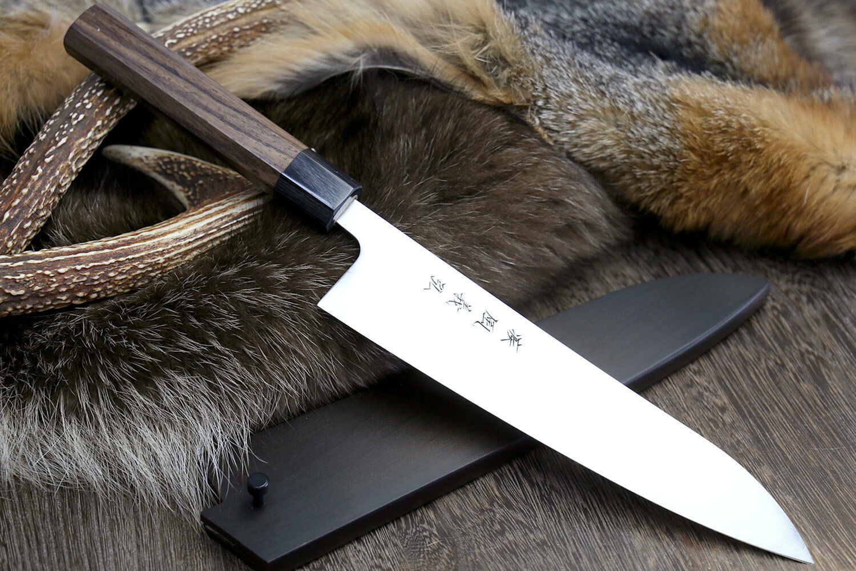 Yoshihiro AOGAMI Super bleu Steel Clad Gyuto Chefs knife Shitan Poignée