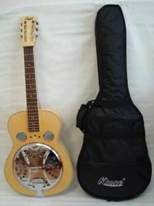 Acoustic-Electric-Square-Neck-Resonator-4-Band-EQ-Natural-Free-Gig-Bag-New