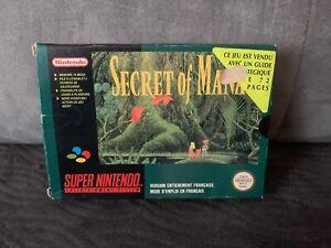 Boite-Vide-Secret-Of-Mana-sans-jeu-Super-Nintendo-SNES-LIRE-DESCRIPTION