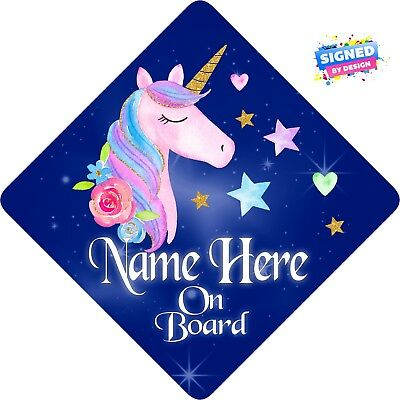 Personalised New Teds Mummys Babies Child//Baby on Board Car Sign Blue~Pink !