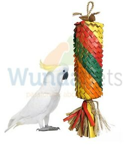 WOVEN-WONDERS-LARGE-40-CM-RAINBOW-PINATA-NATURAL-PARROT-PREENING-CAGE-TOY-22327
