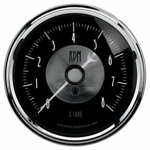 "0-8,000 RPM Auto Meter 2096 3-3//8/"" Prestige Black Diamond Electric Tachometer"