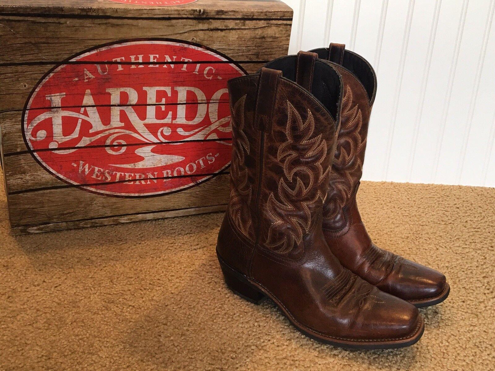 Laredo Mens Cowboy Boots 9D Brown