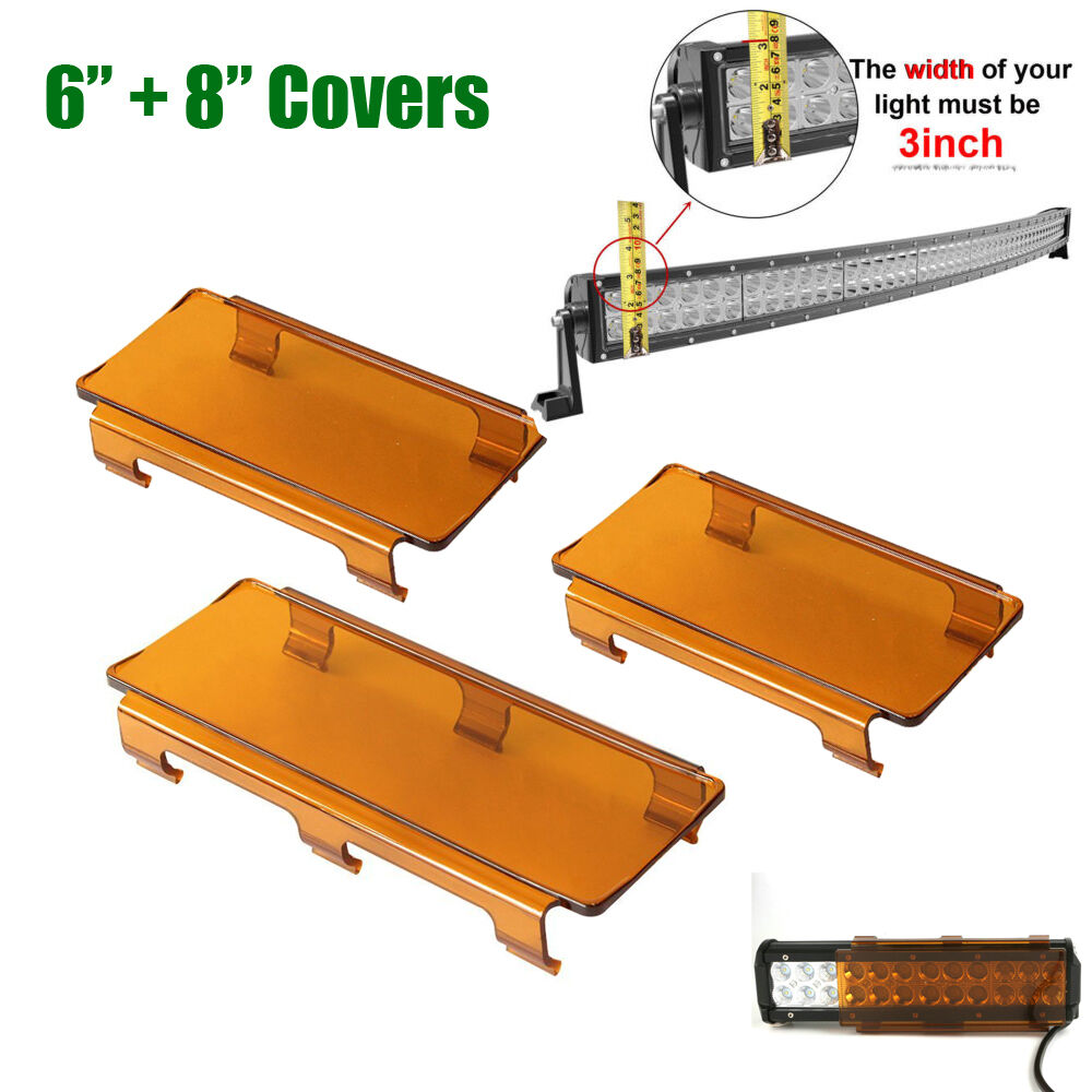 """20/"""" Inch Snap on Amber LED Light Bar Covers for Jeep Truck Offroad 4WD 120W"""