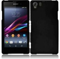 Black Rubberized Hard Shell Case Cover For Sony Xperia Z1 on sale