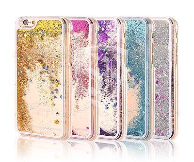 Bling Water Glitter Diamond Stars Cover Hard Clear Case For All Smart Phones