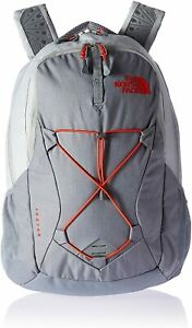 THE-NORTH-FACE-Jester-Women-039-s-Backpack-15-034-Gray-Orange
