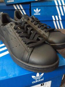 Adidas Black Stan Solid in Premium Pharrell Uk pelle Originals Williams Smith 7 rxCA4rqw