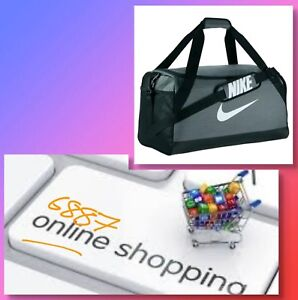2450344575 Nike Brasilia Training Sports Bag Holdall gym Bag Grey Duffel Bag ...