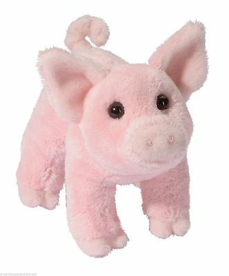 """BUTTONS 6"""" PIG stuffed plush animal toy pink by Douglas Cuddle Toy"""