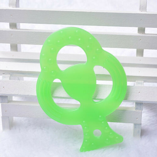 Toddlers Infants Kids Baby Cute Teething Toys Soft Silicone Fruit Teether Holder