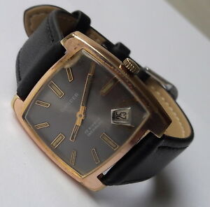 Rare-Vintage-GANDER-Incabloc-17Rubis-Date-Displaying-FHF82-4-Swiss-Made-From60-039-S