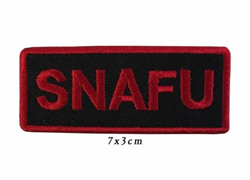 Iron On Sew On Embroidered Patch Badge Snafu Situation A397