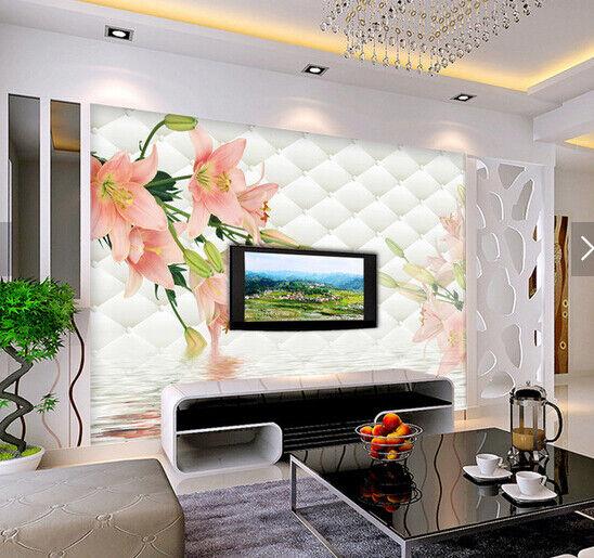 3D Blumenwasser 6898 Tapete Tapeten Mauer Foto Familie Tapete Wandgemälde DE