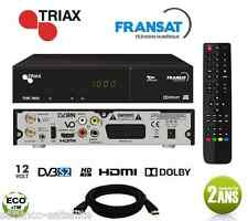 PACK Récepteur TRIAX THR 7600 HD + Carte FRANSAT à Vie Décodeur Satellite NEW