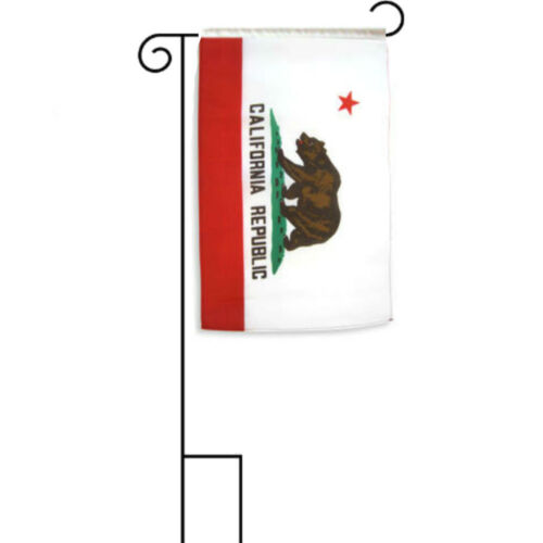 """12x18 12/""""x18/"""" State of California Sleeved w// Garden Stand Flag"""