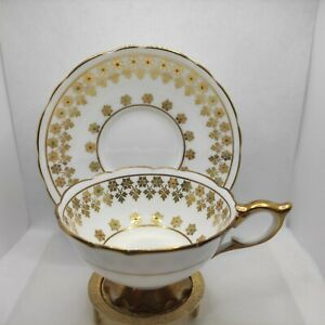Vintage Royal Stafford  teacup and saucer  made In England Bone China