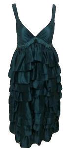 Ladies-SCANLAN-amp-THEODORE-Ruffle-Layered-Silk-Dress-Size-8-EUC-650