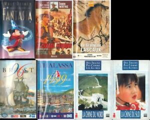 lot 7 cassettes VHS secam couleur films Fantasia, Charge Héroïque +  4 docus