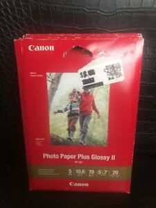 CANON-PHOTO-PAPER-PLUS-GLOSSY-II-PP-301-20-SHEETS-5X7