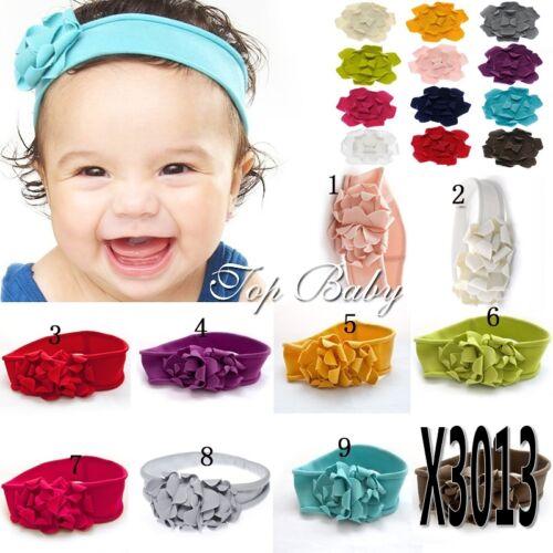 Girls Baby Infant Kids Cotton Flower Soft Elastic Headband Hair wear head band