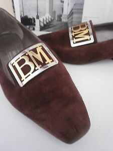 Vintage Slipper Pumps Damen Magli Brown Braun Ballerinas Italy True Made Bruno qAnZ0xwOx
